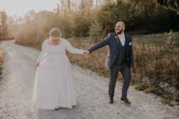 Herbsthochzeit Paar fotografiert von Martina Feicht Fotografie, für Hochzeiten in Niederbayern und Österreich