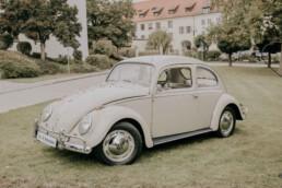 VW Käfer bei Herbsthochzeit in Niederbayern, fotografiert von Martina Feicht Fotografie, Passau