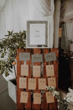 Sitzplan auf der Hochzeit beim Kulturwirt in Passau und fotografiert von Martina Feicht Fotografie