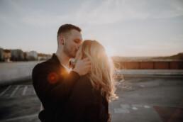 Sunsetshooting mit Paar in Niederbayern fotografiert von Martina Feicht Fotografiert